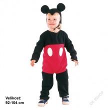 Dětský karnevalový kostým MYŠÁK MICKEY 92 - 104cm ( 3 - 4 roky )